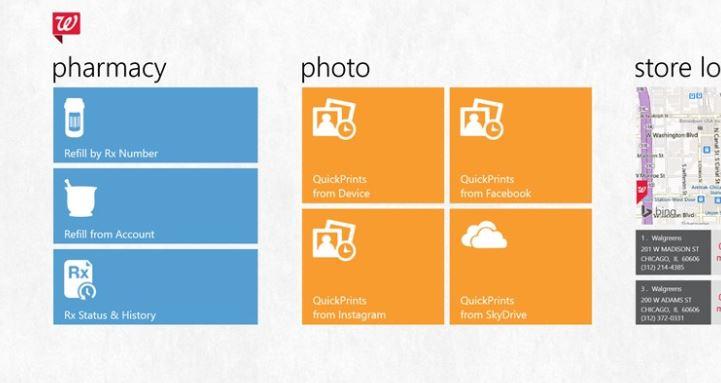 Walgreens Windows Store app
