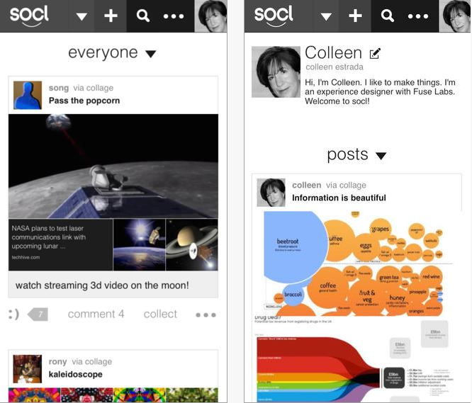 Microsoft Socl iOS app