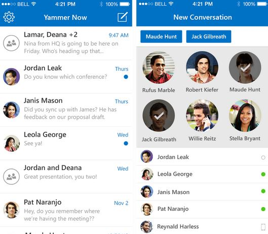 Yammer Now iOS App