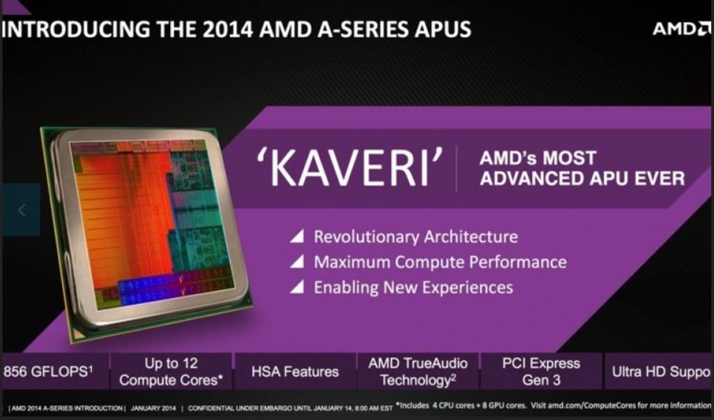 AMD Kaveri CPU compared to Intel