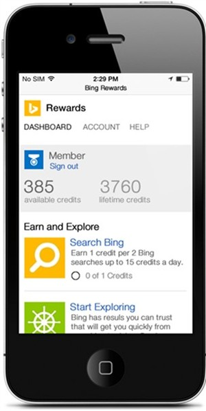 Bing Rewards For Mobile