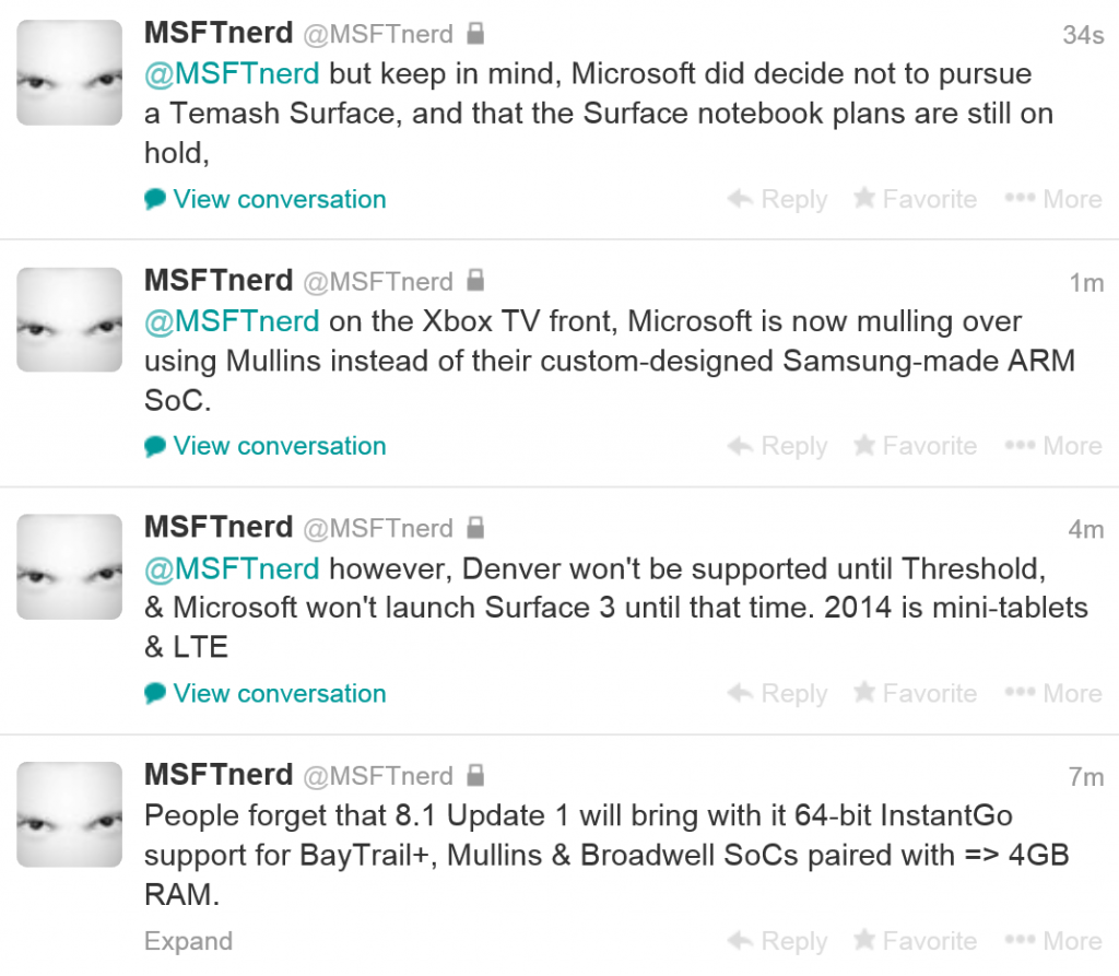 Microsoft Surface Plans