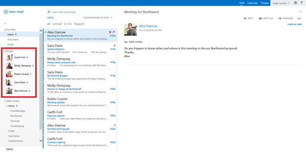 Outlook web appPeopleView
