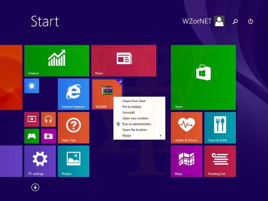 Windows 8.1 Update 1 Right Click