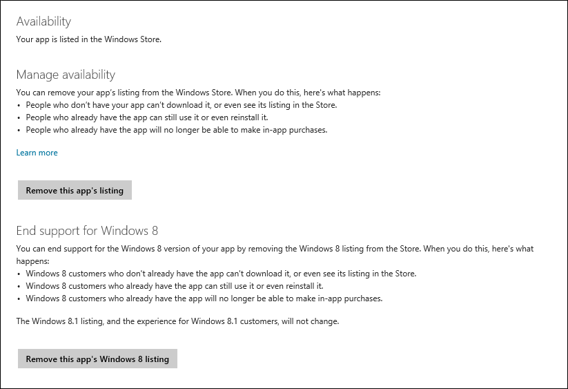Windows Store Availability