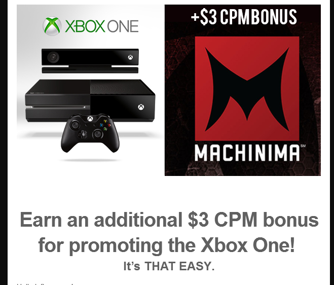 Xbox Machinma Ads