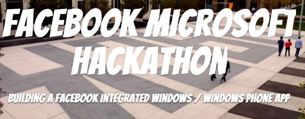 facebook Microsoft hackathon