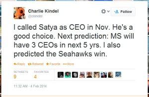 Charlie Kindel Nadella