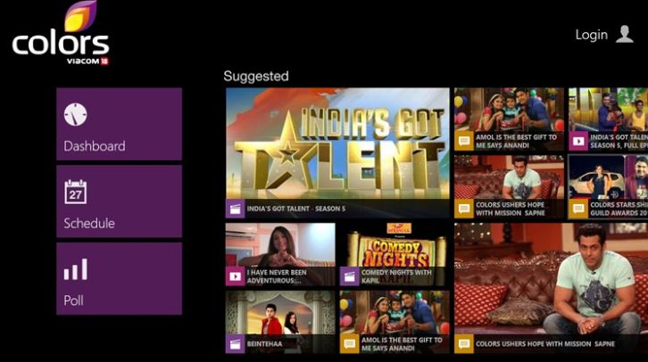 Colors TV Windows Store
