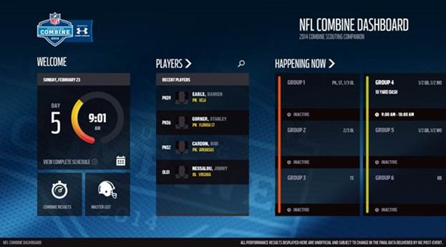 NFL Combine Dashboard