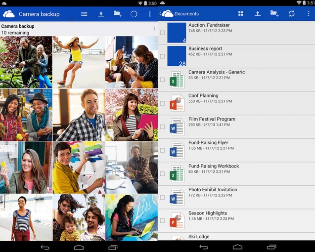 SkyDrive Android app