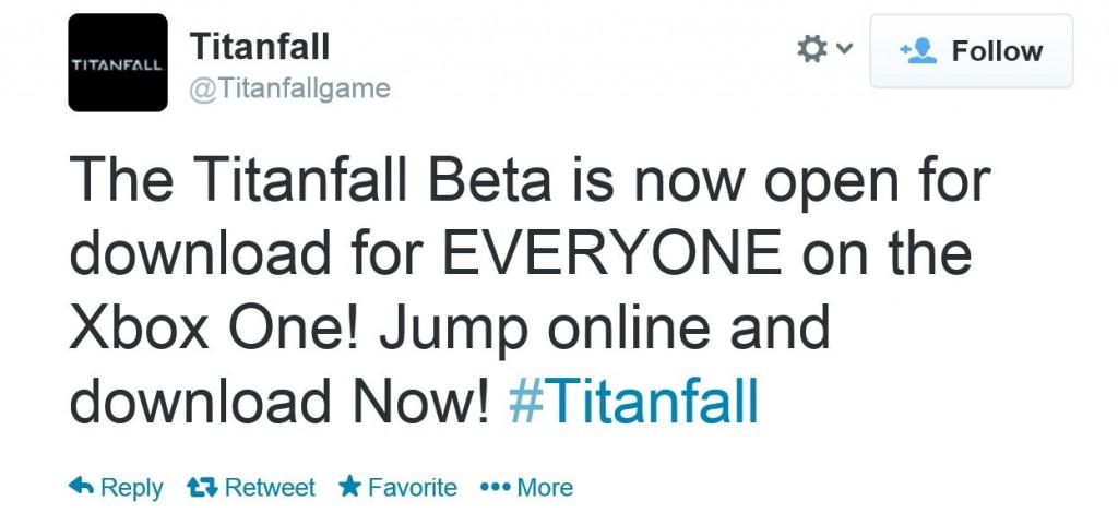 Titanfall beta Xbox One