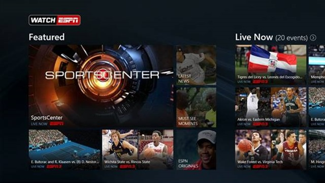 WatchESPN Windows Store