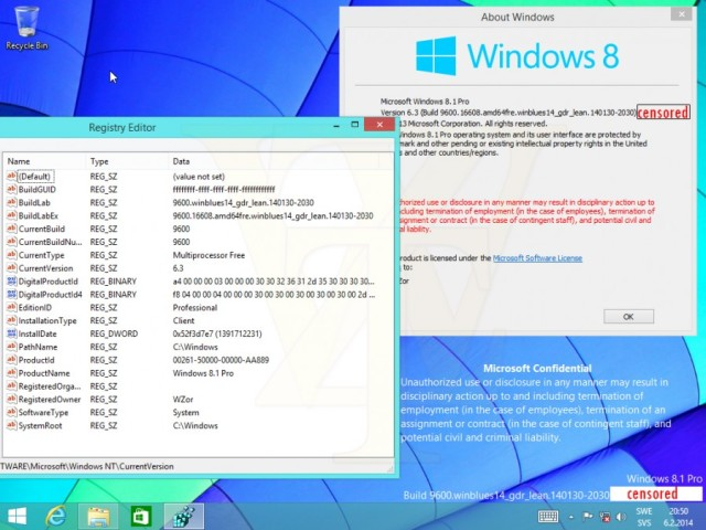 Windows 8.1 Update 1 build