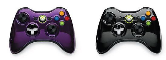 Xbox 360 Purple Controllers