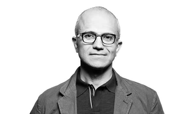 satya nadella Microsoft CEO image
