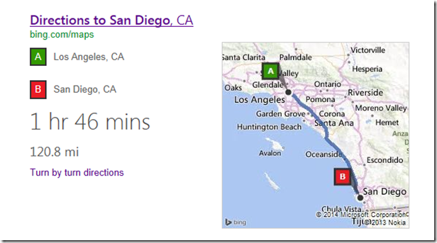 Bing Search Directions