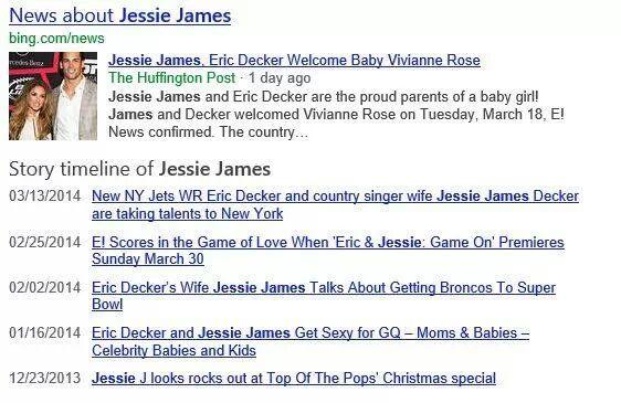 Bing Story Timeline