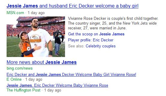 Jessie James bing news