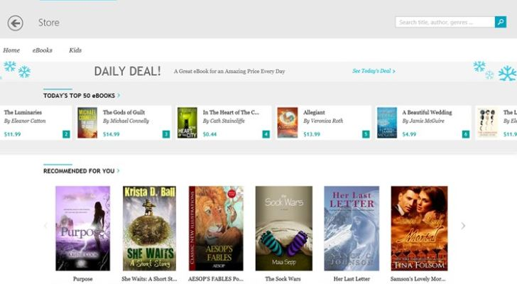 Kobo Windows Store app 1