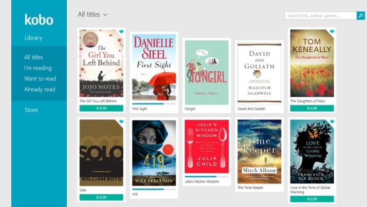 Kobo Windows Store app