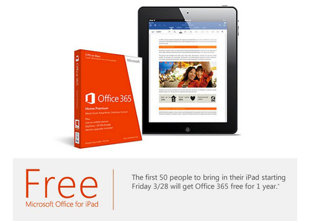 Microsoft Store Office for iPad Promo