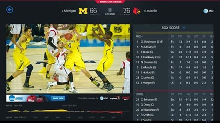 NCAA March Madness Live Windows app