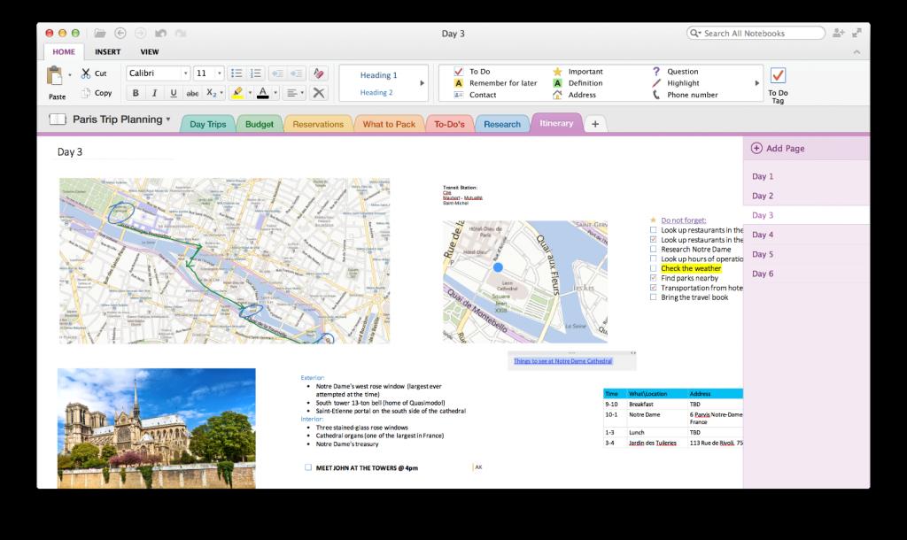 OneNote Mac app