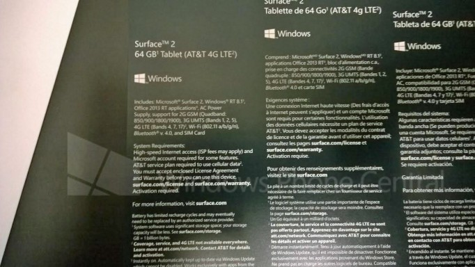 Surface 2 LTE AT&T