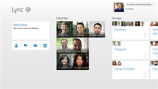 Windows 8 Lync app