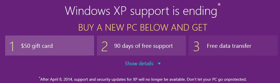Windows XP Support Microsoft Store