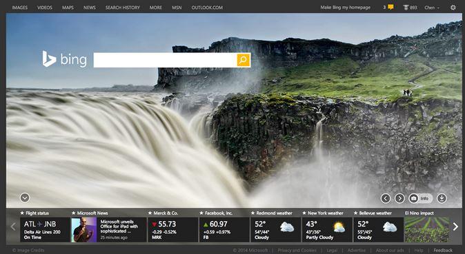 Microsoft Bing Homepage