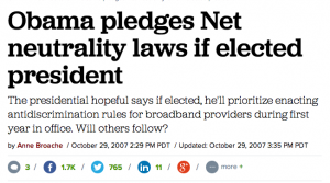 Obama Net Neutraility