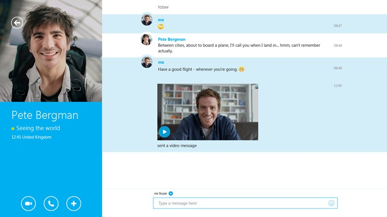 Skype for Windows app