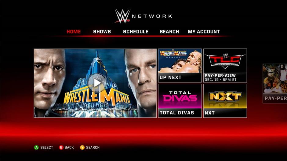 WWE Xbox One app