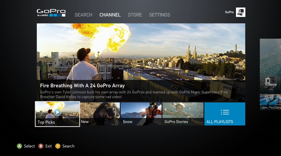 Xbox 360 GoPro App