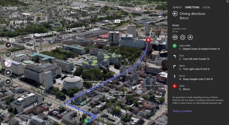 Microsoft Updates Bing 2d And 3d Maps App In Windows Store With New Features
