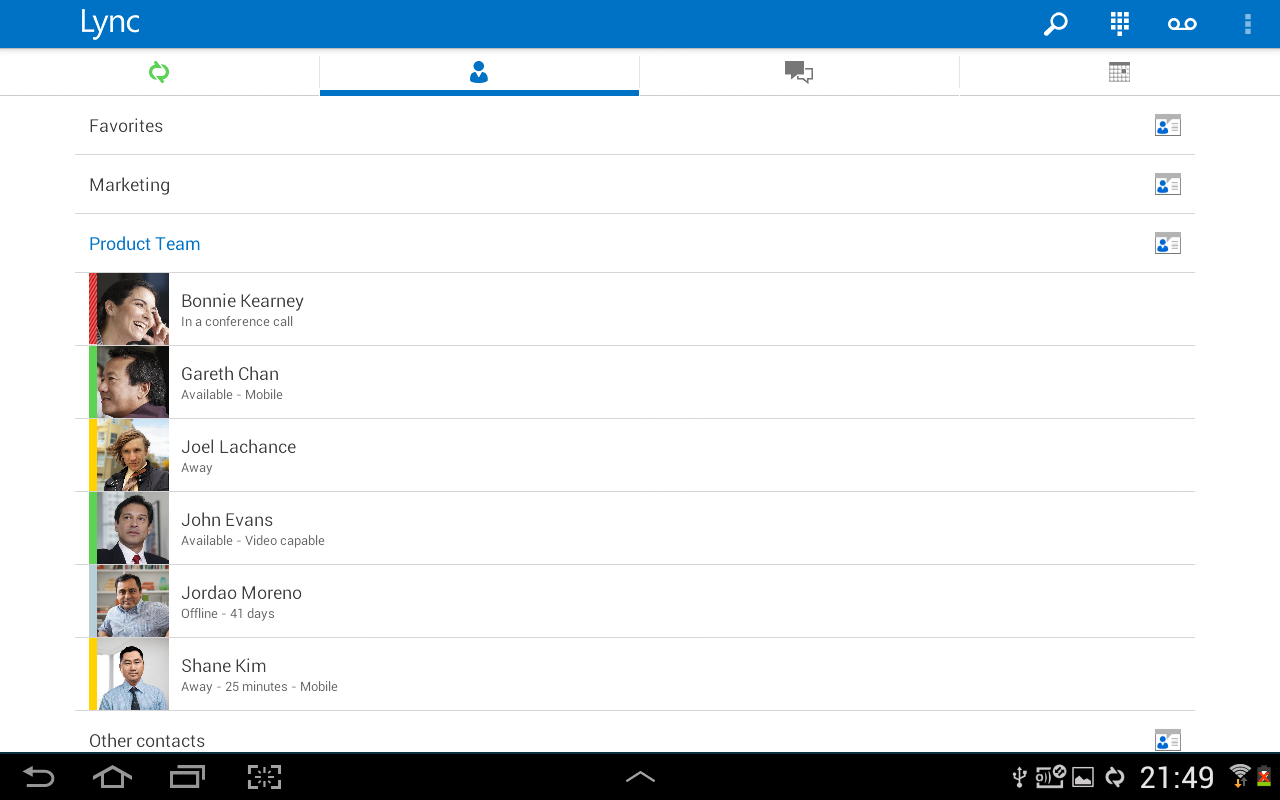 Lync 2013 App For Android Updated With Tablet Support, Group