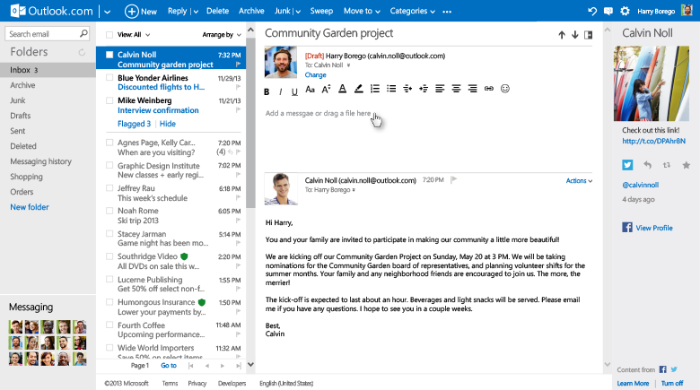 Outlook Inline reply