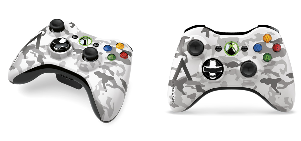Xbox 360 Special Edition Arctic Camouflage Wireless Controller