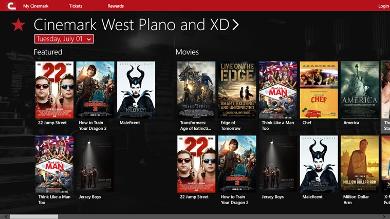 Cinemark Theatres Windows Store
