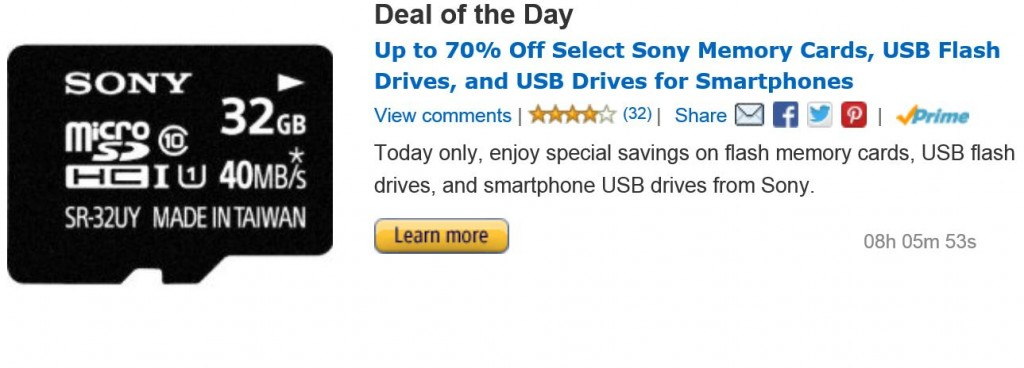 Deal of the day Sony