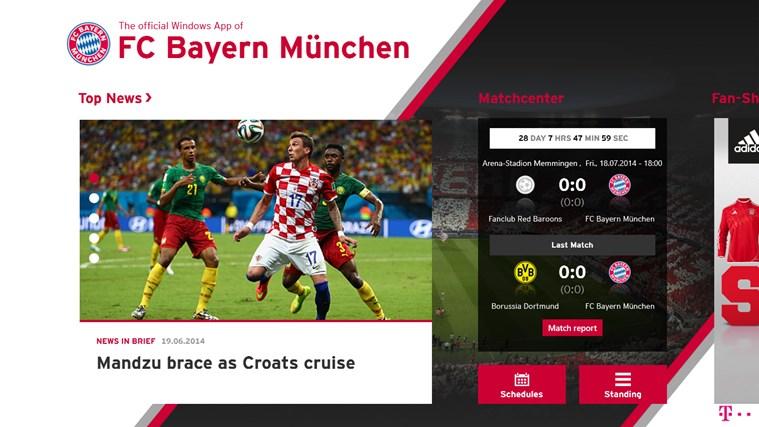 FC Bayern Munich Windows Store App