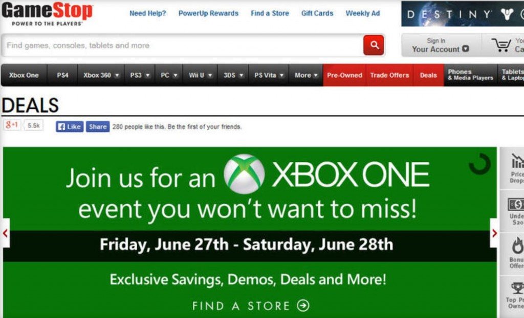Gamestop Xbox One