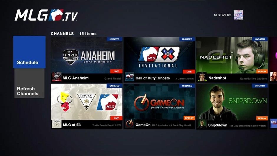MLG App Xbox One