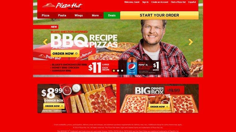 Pizza Hut Windows Store