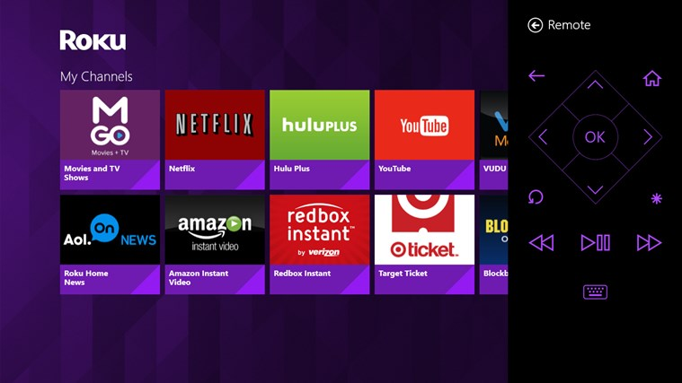 Roku Windows Store app