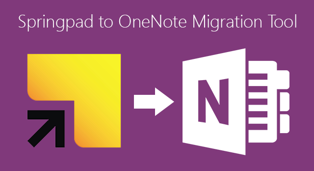 Springpad to OneNote migration