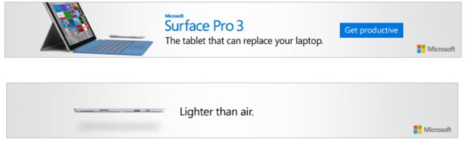 Surface Banner Ad