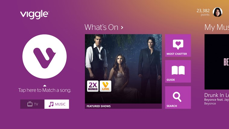 Viggle Windows Store app